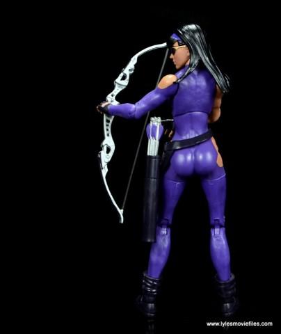 Marvel Legends Avengers Vision, Kate Bishop and Sam Wilson figure review - kate bishop drawing arrow