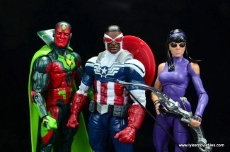 Marvel Legends Avengers Vision, Kate Bishop and Sam Wilson figure review - main pic