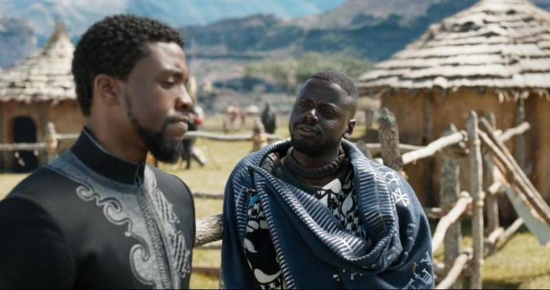 black panther movie review - chadwick boseman and daniel kaluuya