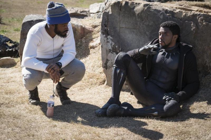 black panther set ryan coogler and chadwick boseman