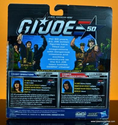 gi joe social clash lady jaye and baroness figure review set - package rear