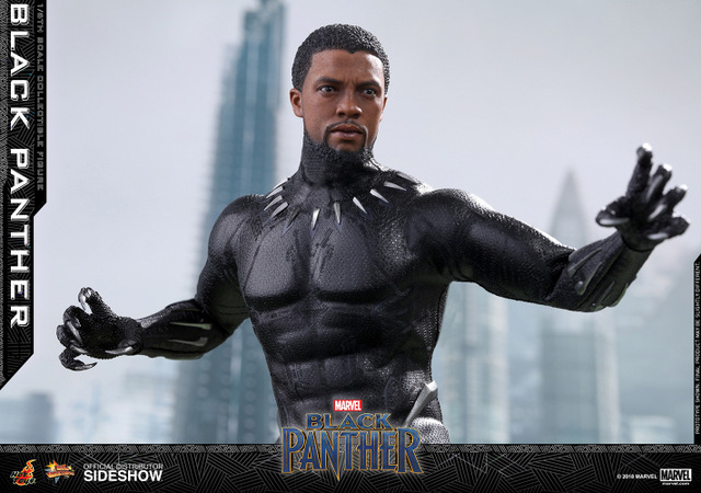 hot toys black panther figure - wide unmasked