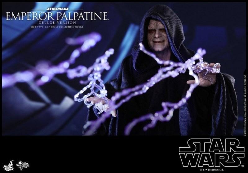 hot toys emperor palpatine figure -lightning hands