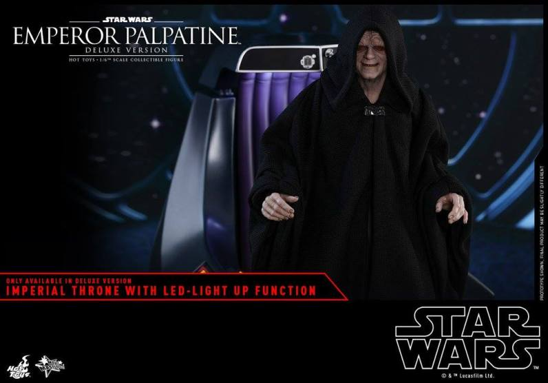 hot toys emperor palpatine figure -rising from the throne