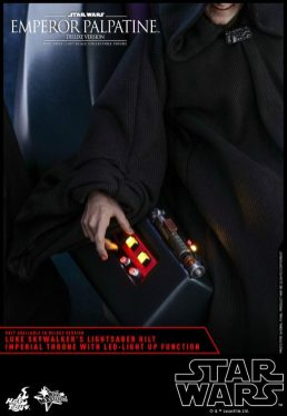 hot toys emperor palpatine figure -throne close up light up