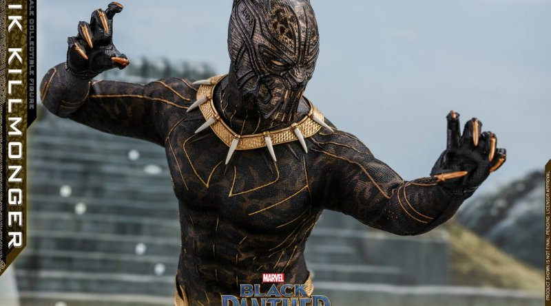 hot toys erik killmonger figure -claws up