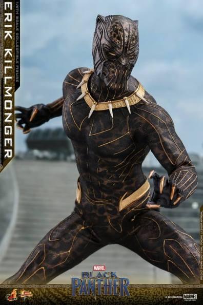 hot toys erik killmonger figure -close up