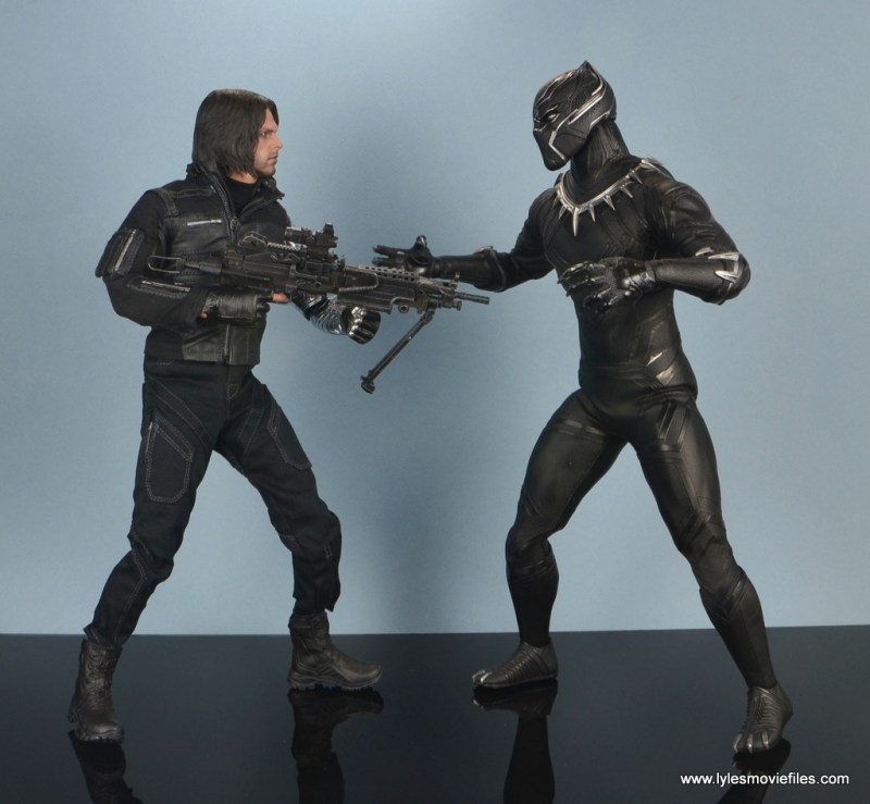 hot toys the winter soldier civil war figure review - face off with the black panther