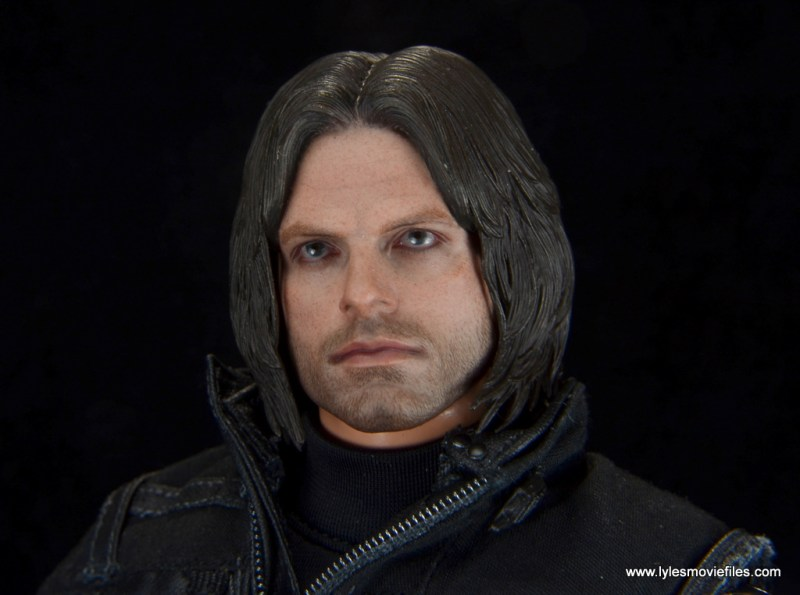 hot toys the winter soldier civil war figure review - head sculpt close up