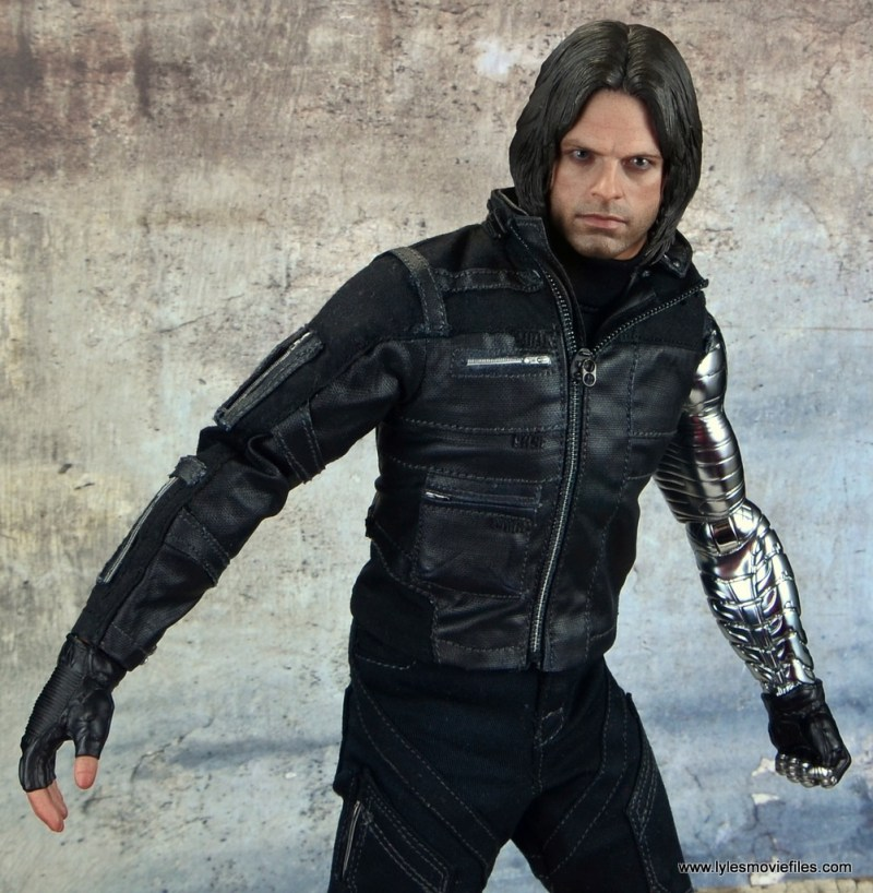 hot toys the winter soldier civil war figure review - jacket detail