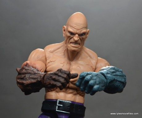 marvel legends absorbing man figure review -close up