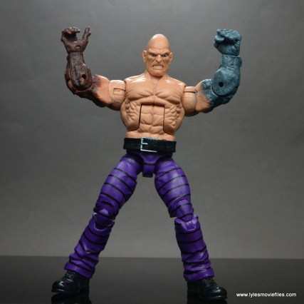 marvel legends absorbing man figure review -flexing