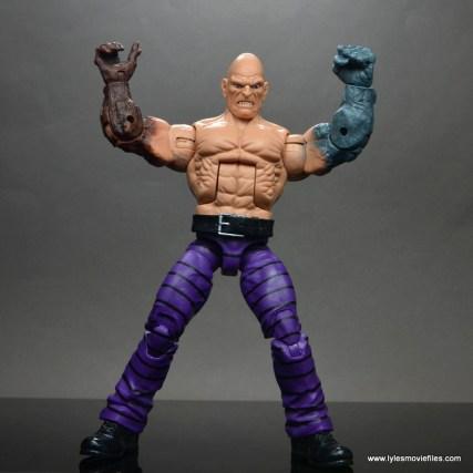 marvel legends absorbing man figure review -flexing