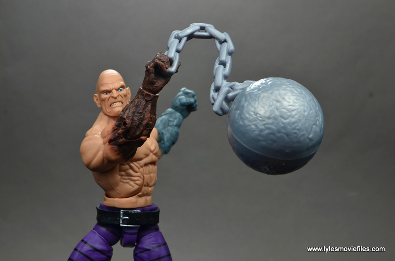 marvel legends absorbing man figure review -swinging wrecking ball