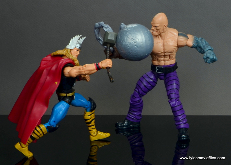 marvel legends absorbing man figure review -vs toy biz thor