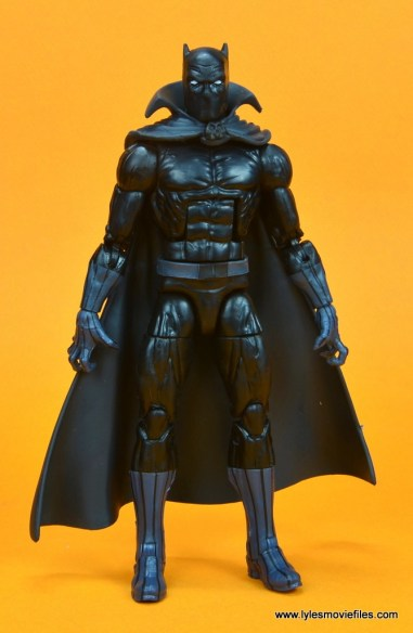 marvel legends black panther figure review - front with cape
