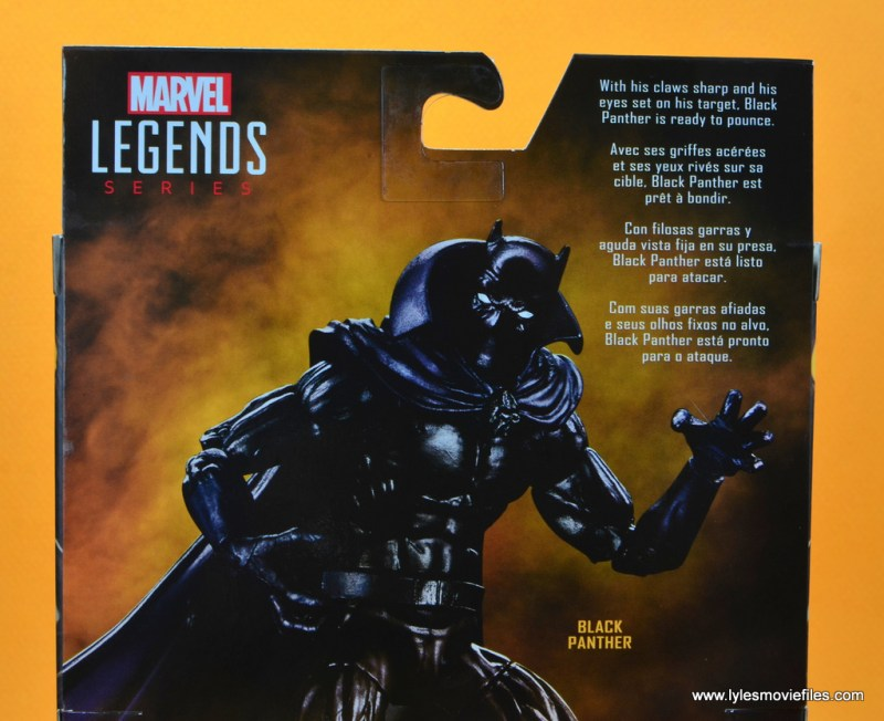 marvel legends black panther figure review - package bio
