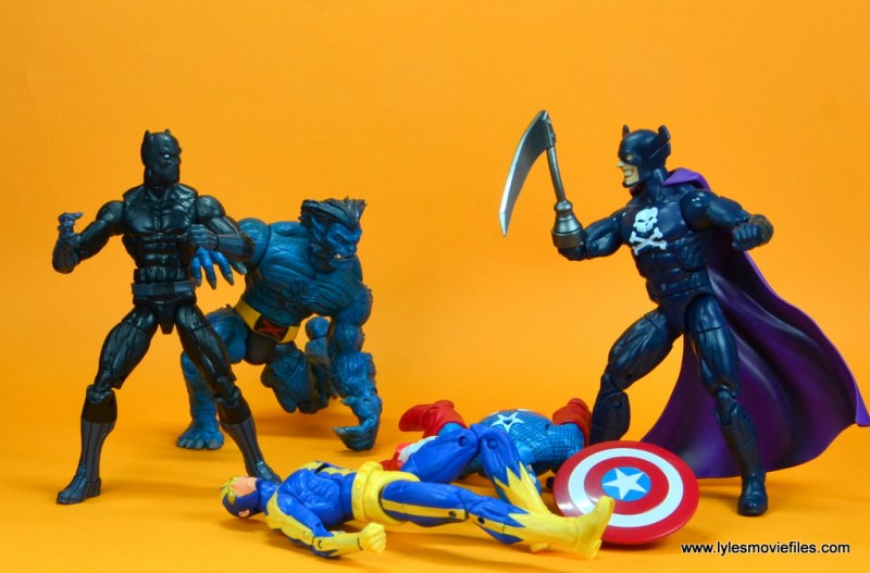 marvel legends black panther figure review - with beast vs grim reaper