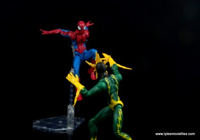 marvel legends retro spider-man figure review -vs electro