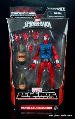 marvel legends scarlet spider-man figure review - package front