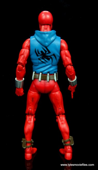 marvel legends scarlet spider-man figure review -rear