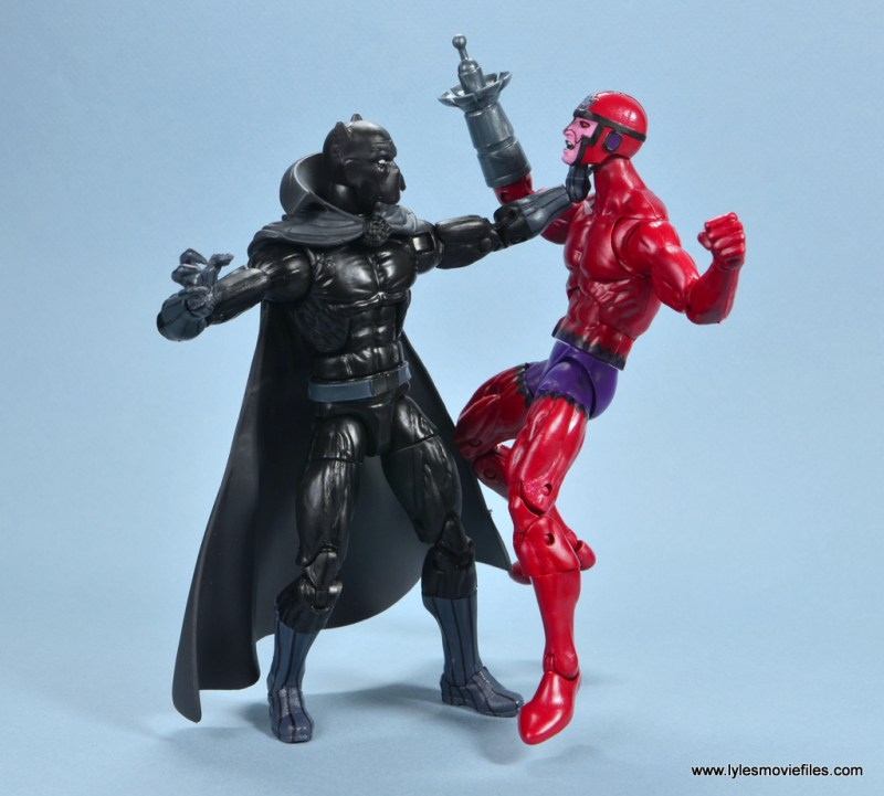 marvel legends shuri and klaw figure review -klaw choked out by black panther