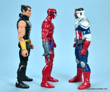 marvel legends shuri and klaw figure review -klaw scale with namor and captain falcon