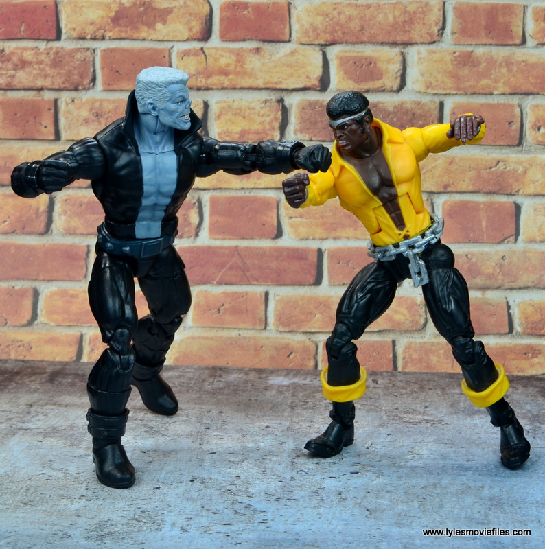 marvel legends tombstone figure review -battling power man
