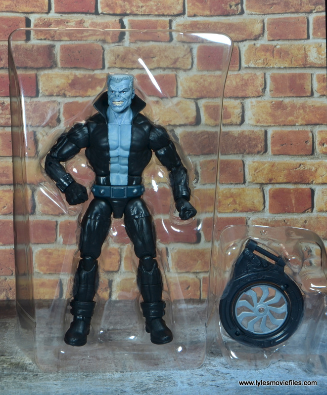 marvel legends tombstone figure review -in tray