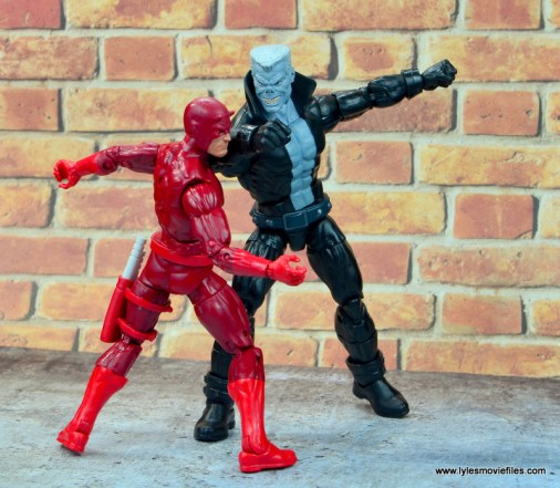 marvel legends tombstone figure review -knocking out daredevil