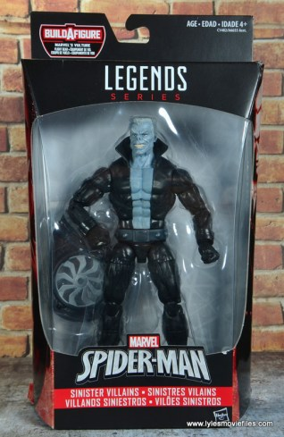 marvel legends tombstone figure review -package front
