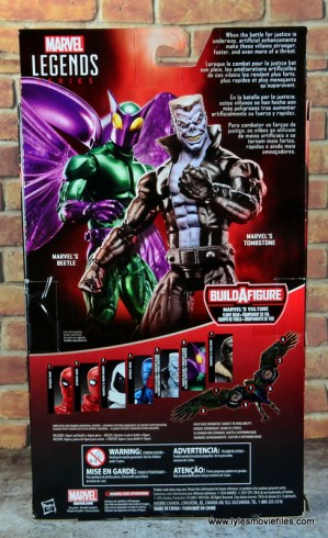 marvel legends tombstone figure review -package rear