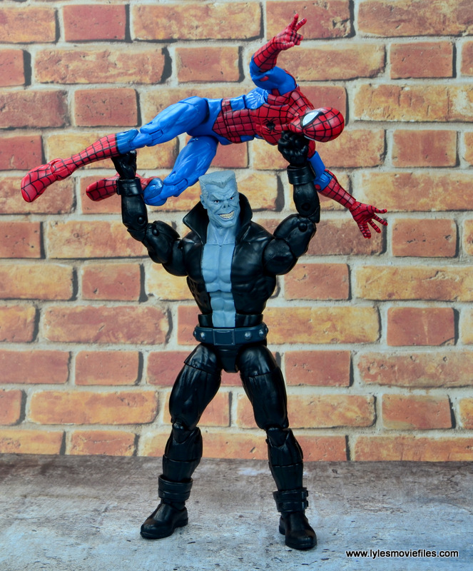 marvel legends tombstone figure review -pressing spider-man
