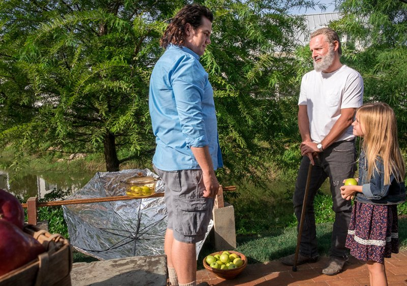 the-walking-dead-honor review eugene, rick and judith