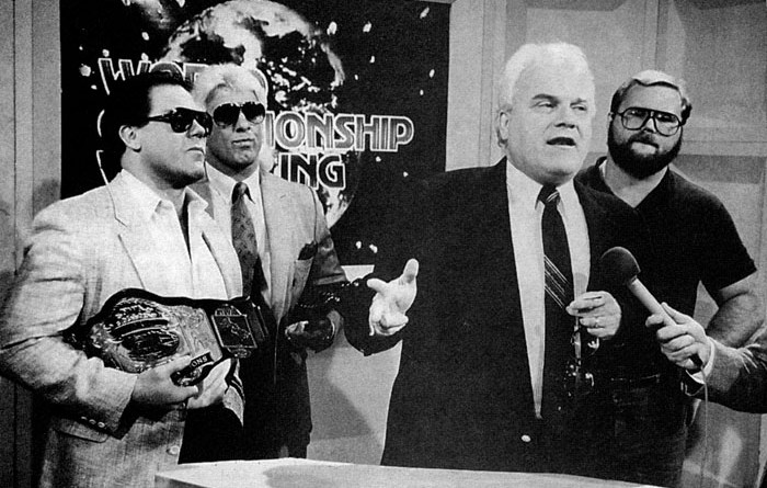 tully blanchard, ric flair, jj dillon and arn anderson new lineups