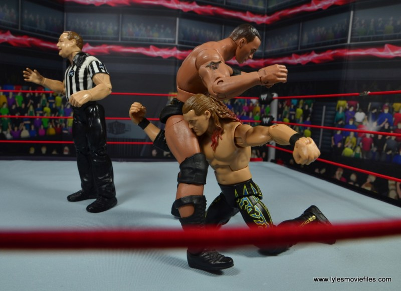 wwe defining moments chris jericho figure review - low blow to the rock