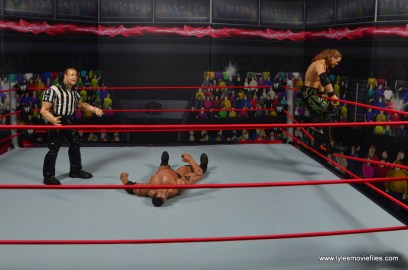 wwe defining moments chris jericho figure review - preparing to lion sault the rock
