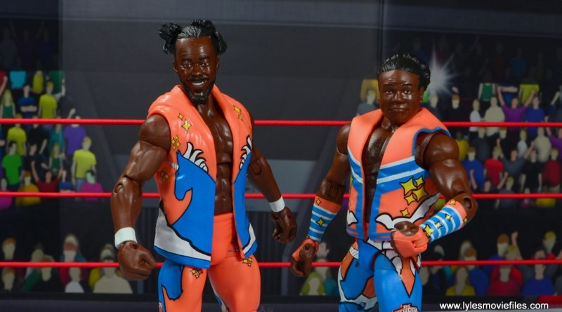 wwe elite 52 new day figure review -main pic of kofi kingston and xavier woods