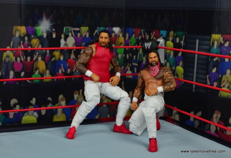 wwe elite 54 the usos jimmy and jey usos figure review - hanging in the corner