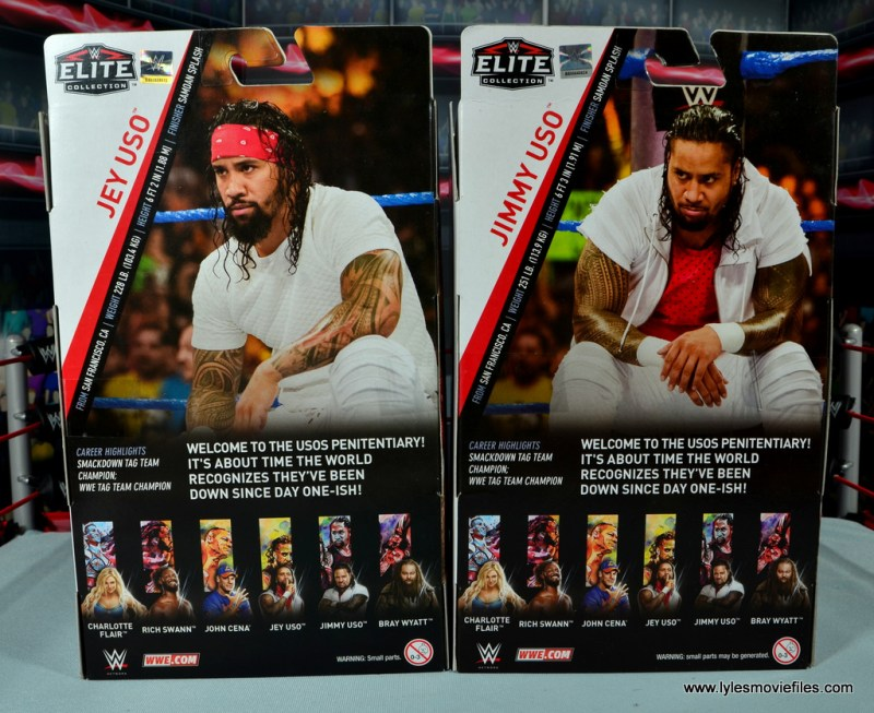 wwe elite 54 the usos jimmy and jey usos figure review - package rear