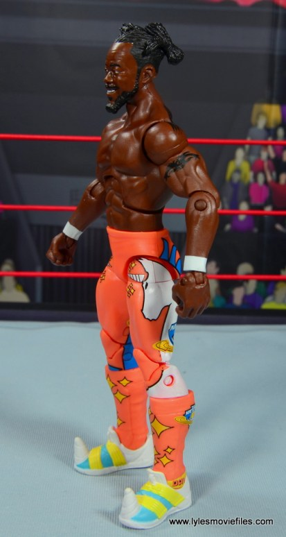 wwe elite kofi kingston figure review -left side