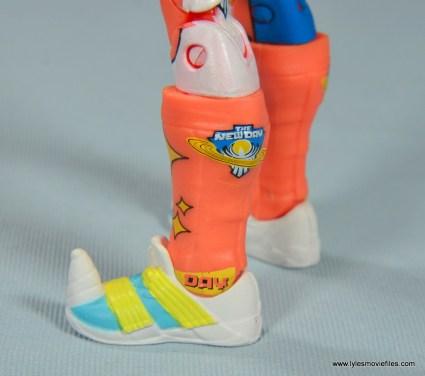 wwe elite kofi kingston figure review -side view of boots