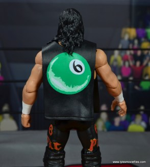 wwe elite syxx figure review - back of t-shirt
