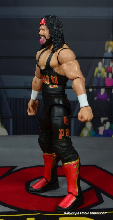 wwe elite syxx figure review - left side