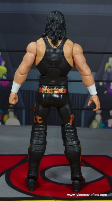 wwe elite syxx figure review - rear