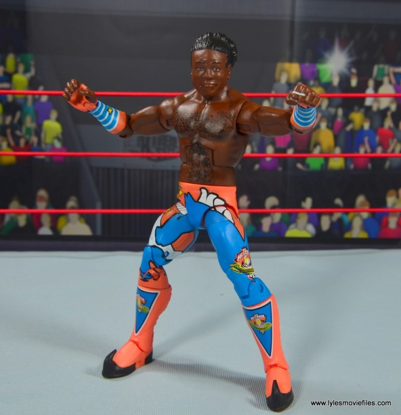 wwe elite xavier woods figure review -front with no vest