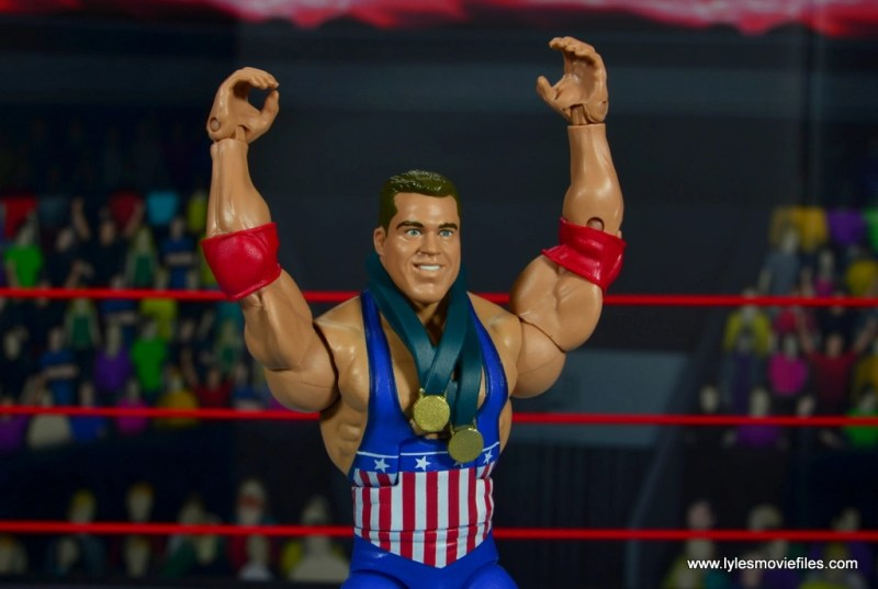wwe entrance greats kurt angle figure review - arms up medal details