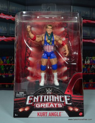 wwe entrance greats kurt angle figure review - package front