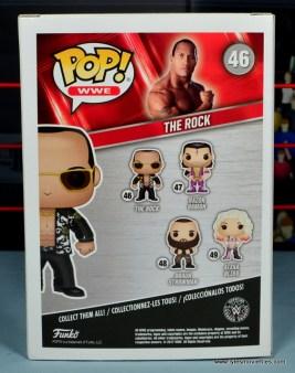 Funko Pop! WWE The Rock figure review - package rear
