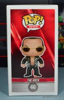 Funko Pop! WWE The Rock figure review - package side